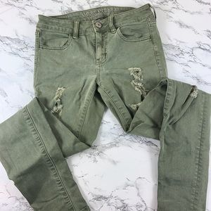 American eagle jegging green size 4